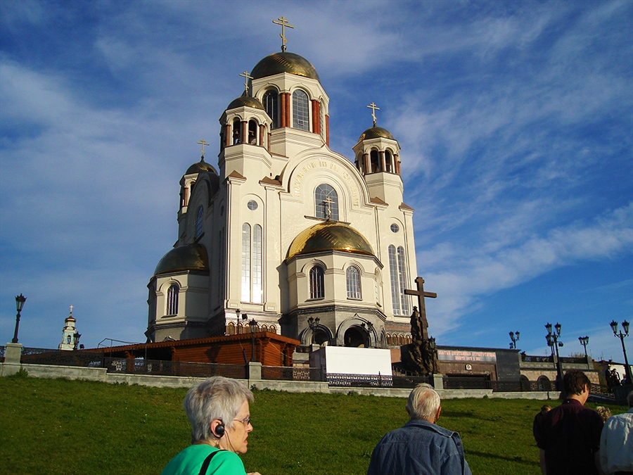 Travel with Sara Raney. (Photo taken at the Church of Blood - the Romanov death site.)