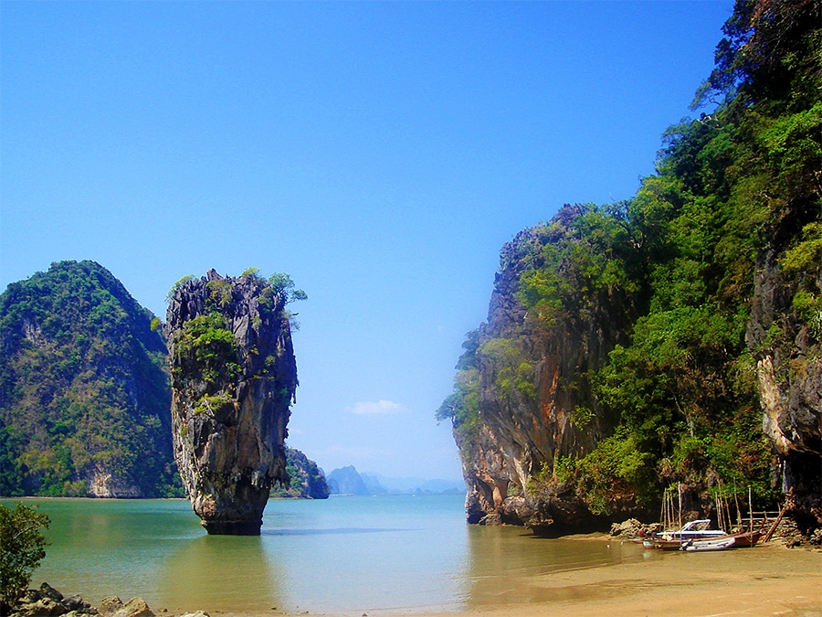 "Travel with Sara Raney to Thailand (Photo of ""The rock"" - James Bond Island - taken on a National Geographic Expedition.)"