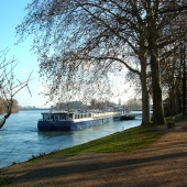 Travel with Sara Raney (Photo of a riverboat on the Seine River in Germany.)