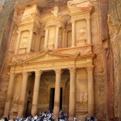 Travel with Sara Raney to Petra, Jordan. (Photo taken in the Red Rose City).