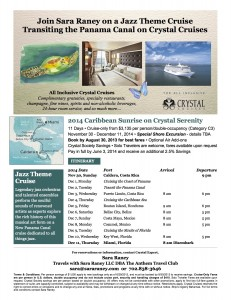 Crystal Cruises Jazz Cruise Flyer