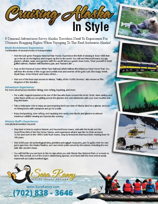 9-Points Infographic - Cruising Alaska in Style